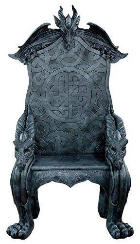 Fantasy Dragon Castle King's Throne Chair 60 Inch Tall