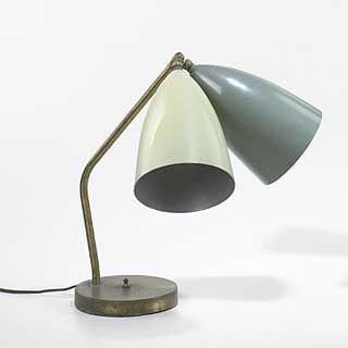 Greta Magnusson Grossman Table Lamp Colours Gray Green