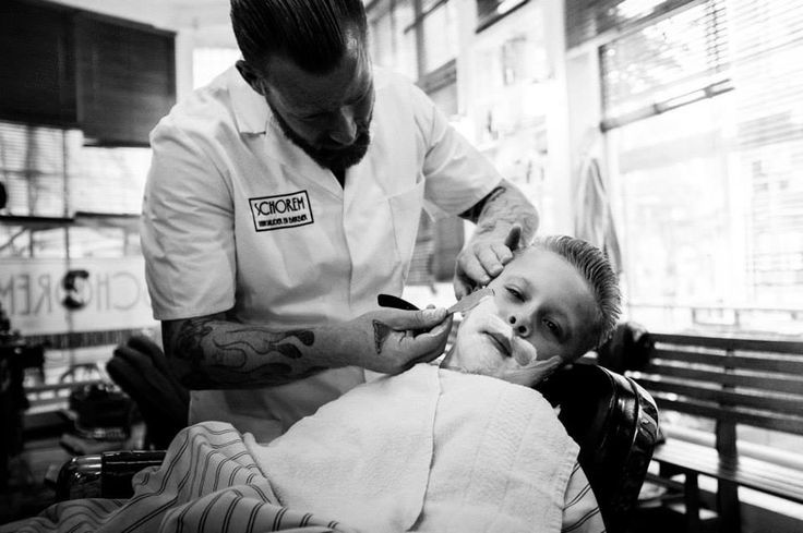 Boy Being Shaved By A Barber Shave Pinterest Boys