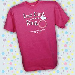 last fling before the ring tshirts | Personalized Last Fling Bachelorette Party T-Shirt