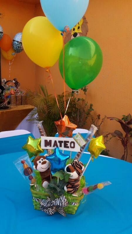 Arreglo de Mesa #BabyShower #Safari | Centros de mesa | Pinterest | Safari, Babyshower and Mesas