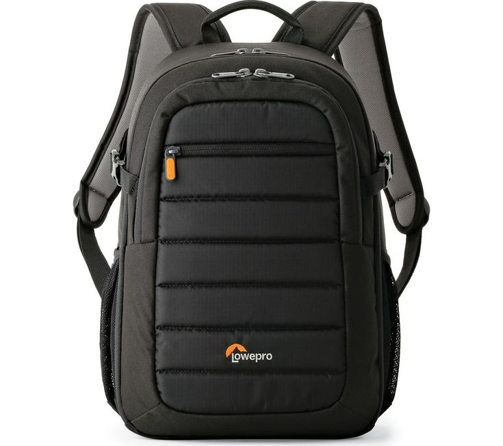 LOWEPRO  Tahoe BP 150 DSLR Camera Backpack – Black, Black Price: £ 44.99 The attractive Lowepro Tahoe BP 150 DSLR Camera Backpack in black is a practical and fun choice for photography fans who love travelling to photograph beautiful locations. Its weather-resistant materials help to protect your camera and tablet from the elements, whilst keeping them secure inside a padded pocket. Dividers...