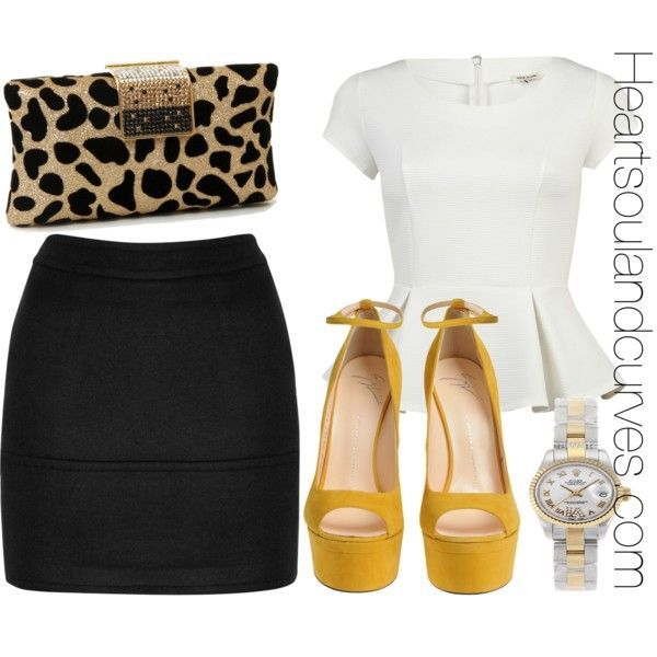 Shes A Lady by adoremycurves on Polyvore