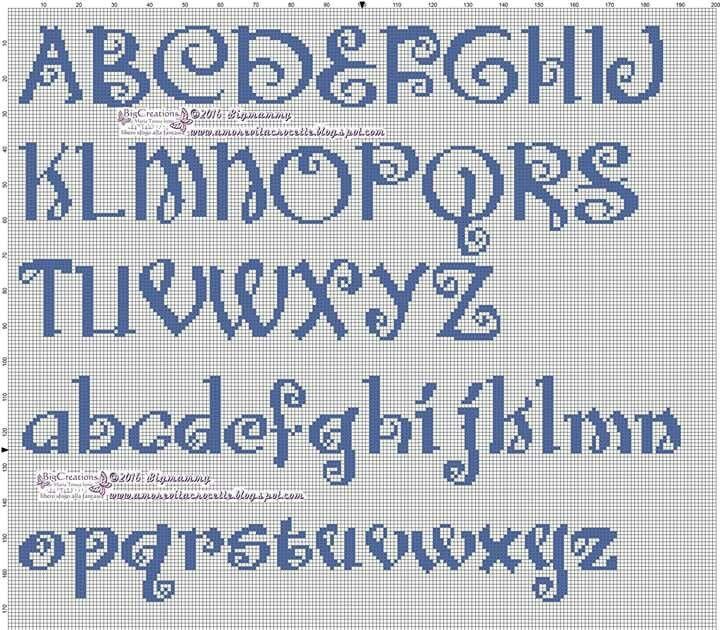 Cross stitch alphabet letters