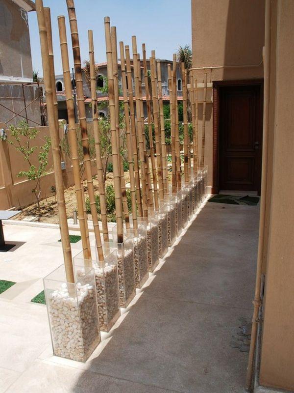 bambou decoratif, idee pour decoration de jardin