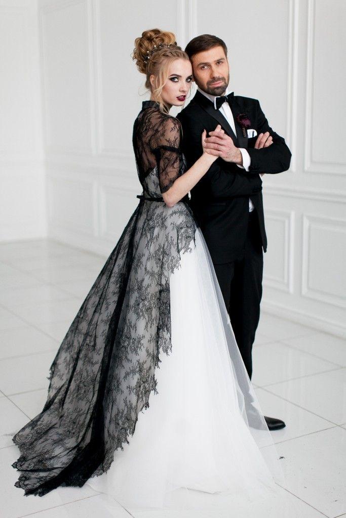 Великолепный черный | Свадебная невеста