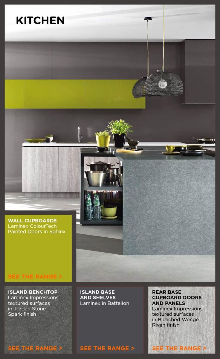 Greys look great with a vibrant greenThe 55 best images about Laminex kitchen ideas on Pinterest  . Laminex Kitchen Design. Home Design Ideas