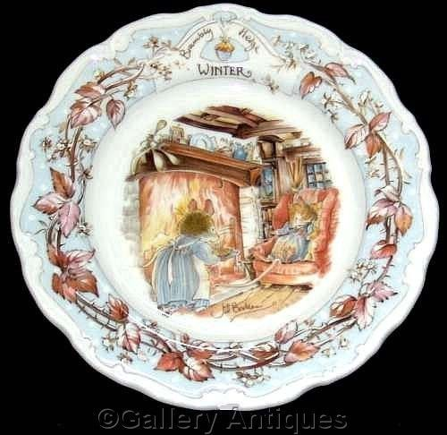 Royal Doulton BRAMBLY HEDGE four seasons WINTER jill barklem 8  wall PLATE 1st
