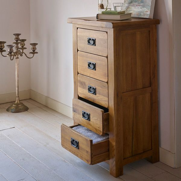 Best Rustic Solid Oak Chest Of Drawers Tallboy Original 400 x 300
