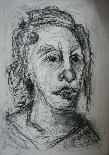 d s groa e kohlezeichnung 71 x 100 cm bauhaus weimar original