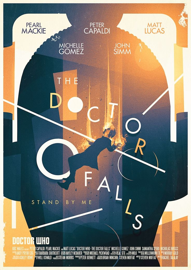 Check out this retro poster for 'The Doctor Falls' - Poster design by Stuart Manning