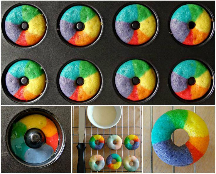 Rainbow Donuts!
