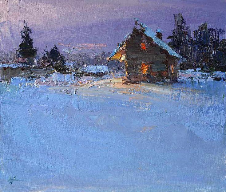 The House is Warm. Oil, 30 х 35 cm, 2015. Vyacheslav Korolenko