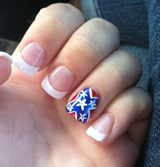 104 best nails images on pinterest rebel flags rebel flag nails rebel flag nails prinsesfo Gallery