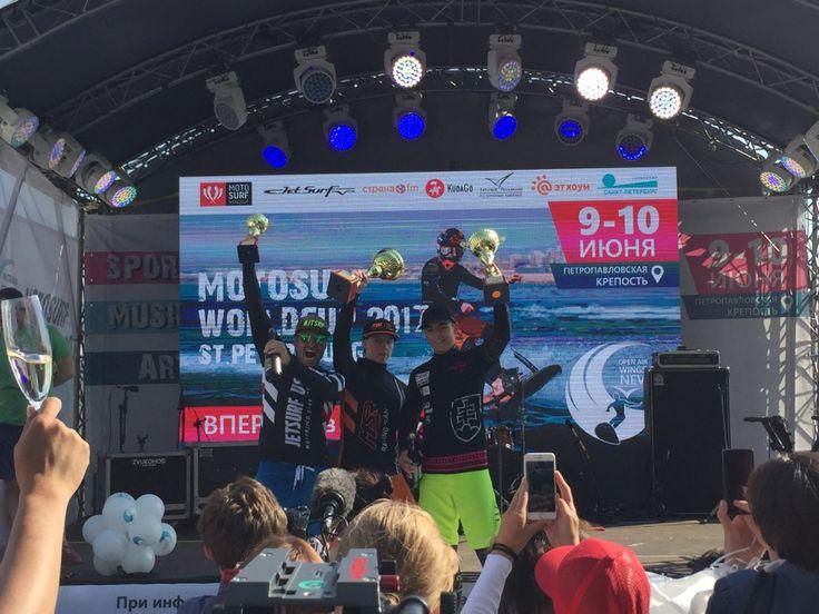 Winners of MotoSurf WorldCup Petrohrad race 2017 http://jetsurfblog.com/en/second-race-motosurf-worldcup-stpetersburgh-russia/
