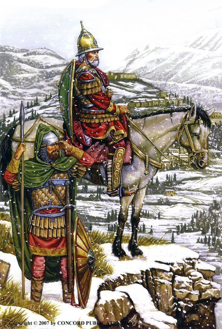 Byzantine Roman garrison troops of the Morean Despotate,