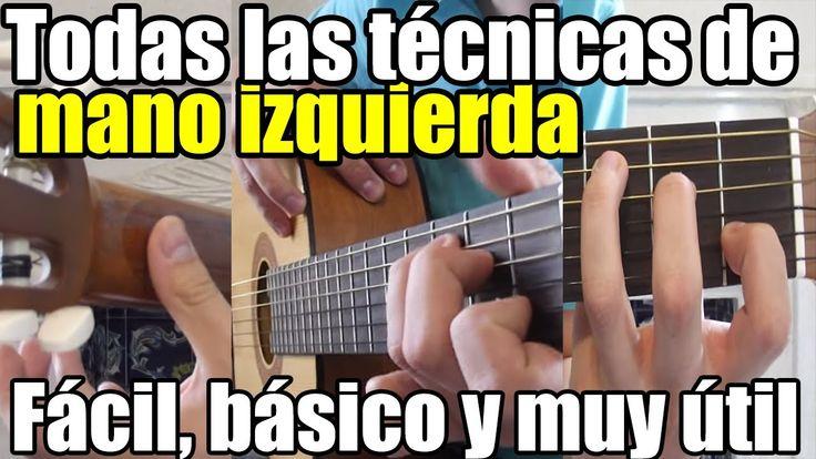 Clases de guitarra para principiantes #6: Como tocar con la mano izquier...