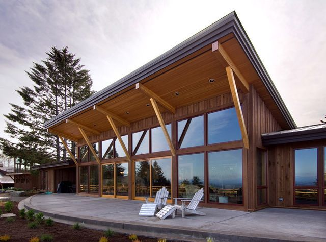 single slope roof | Patio Roofs | Pinterest | Shed Roof, Shed Roof ...
