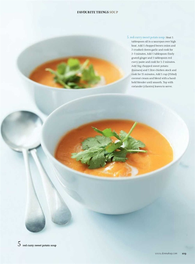 Red curry sweet potato soup. Donna Hay Magazine : Issue 51 - demo, Recipe page 109