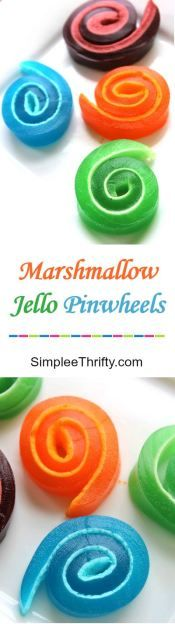 Marshmallow Jello Pinwheels! Fun and easy treat that you can get the kids in on the fun too. These would make great after school treats or even a delicious treat for the little ones.