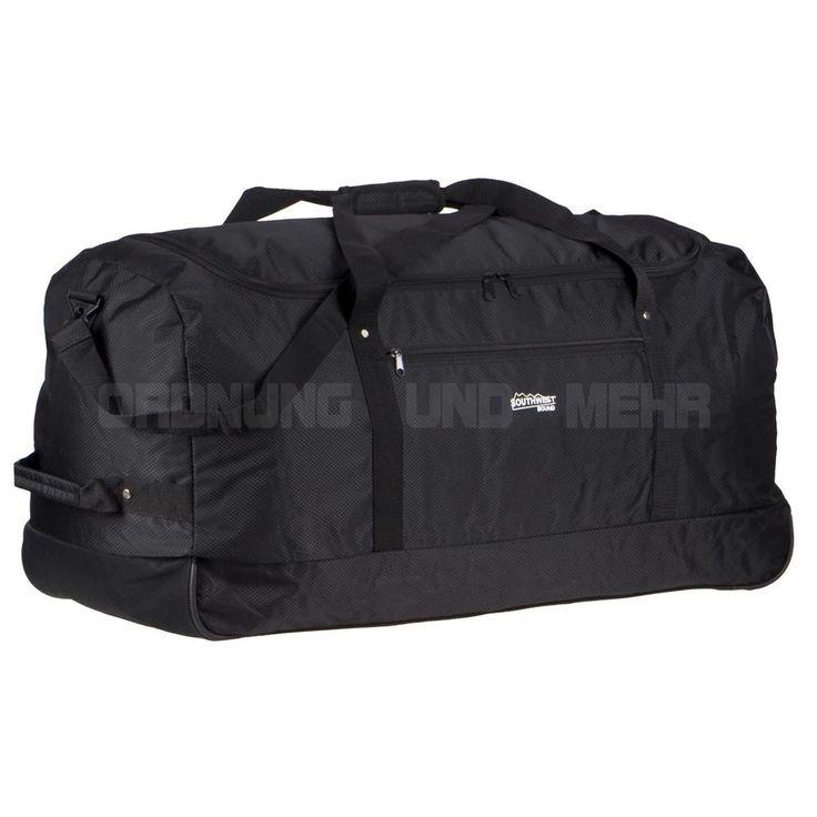 Reisetasche XXL Rollen faltbar Rollreisetasche 80 cm 110L Sporttasche schwarz