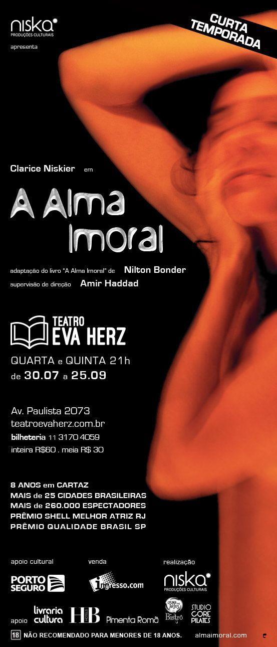 A Alma Imoral #apoiocultural #usinadasartes #usinabistro