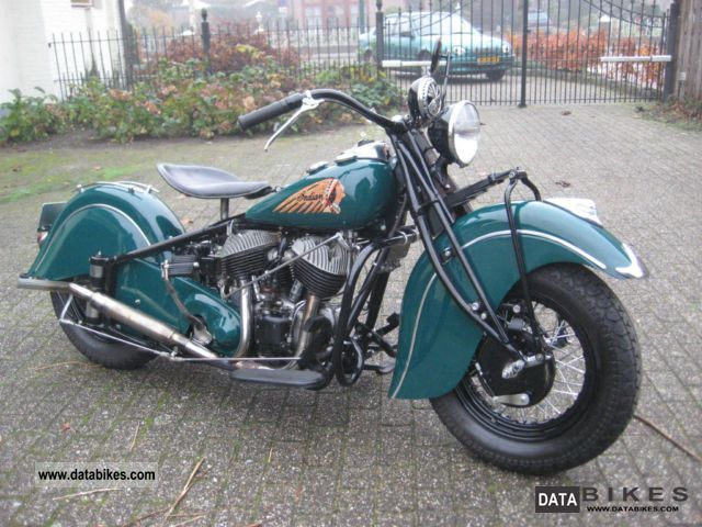 Indian  Chief 1941 1944 Vintage, Classic and Old Bikes photo