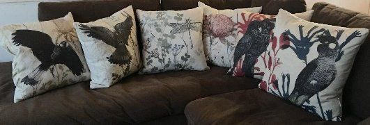 Designer Cushions by Trudy Rice.  All made in Australia