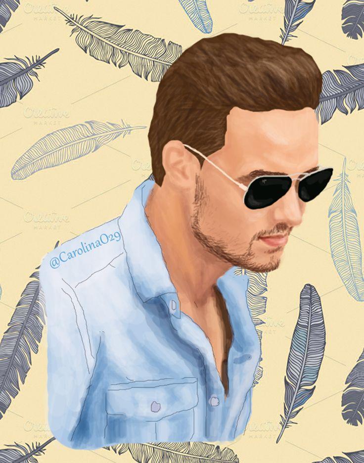 Digital Drawing of Liam Payne.