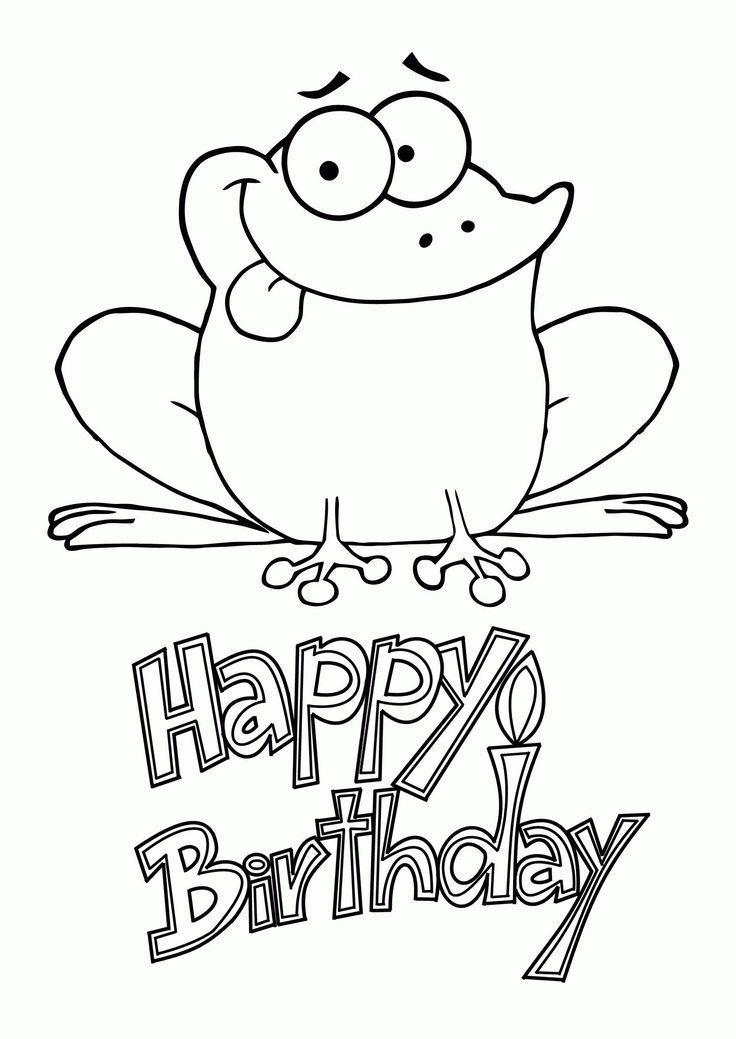 Happy Birthday Coloring Card New Happy Birthday Coloring ...