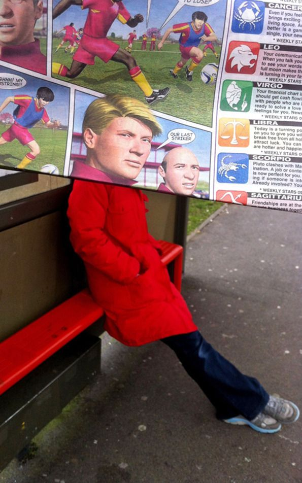 Commuter Juxtaposes Newspaper to Unsuspecting Travelers