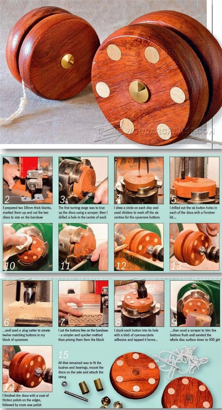 Woodturning Yo-Yo - Children's Wooden Toy Plans and Projects   WoodArchivist.com