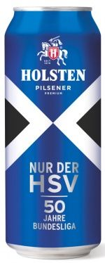Limited edition Holsten can in Hamburger Sport-Verein colours