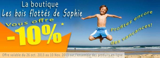 www.les-bois-flotte.com - Remise de 10% sur l'ensemble des produits disponibles dans la boutique en ligne. Code promo: AUTOMNE13 valable du 26 oct. au 10 nov. 2013.