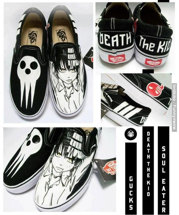 At first glance all i could think of is death the kid yelling about how these shoes are not symmetrical.