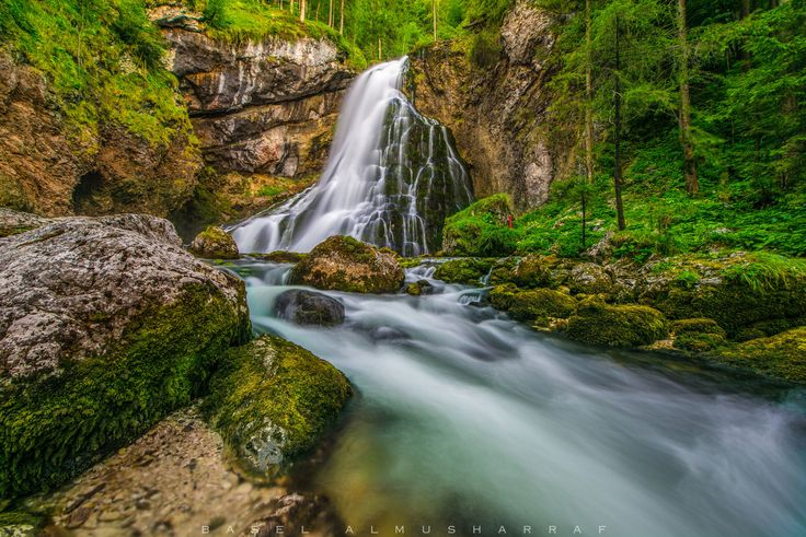 Green, Gollinger Wasserfall by Basel Almusharraf on 500px