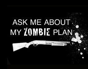 There are two kinds of people in the world; those who have a plan prepared for when the zombies take over the Earth, and those who don't. We call those last people dinner.: Zombies Apocalypse, Plans Preparation, Zombies Plans, My Sons, Zombies Apocalyp Survival, Roosters Teeth, People Dinners, Things, Apocalyp Plans