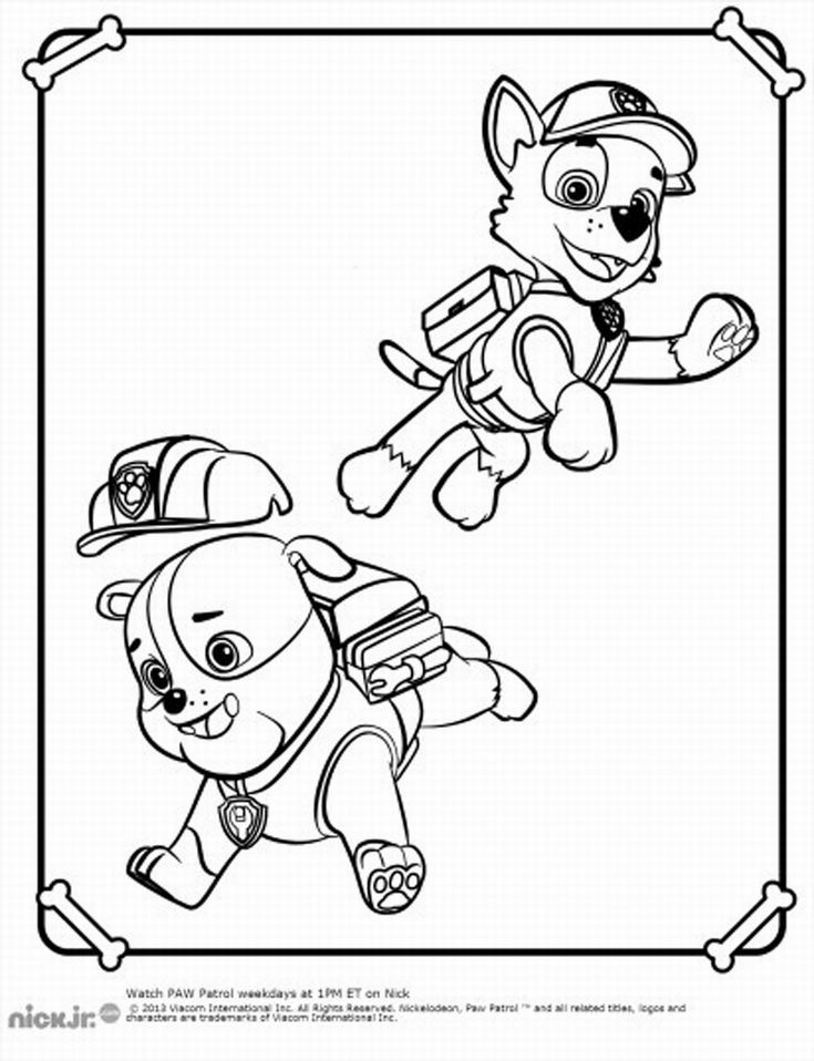 Paw Patrol Coloring Pages : Coloring pages paw patrol מפרץ ההרפתקאות דפי צביעה
