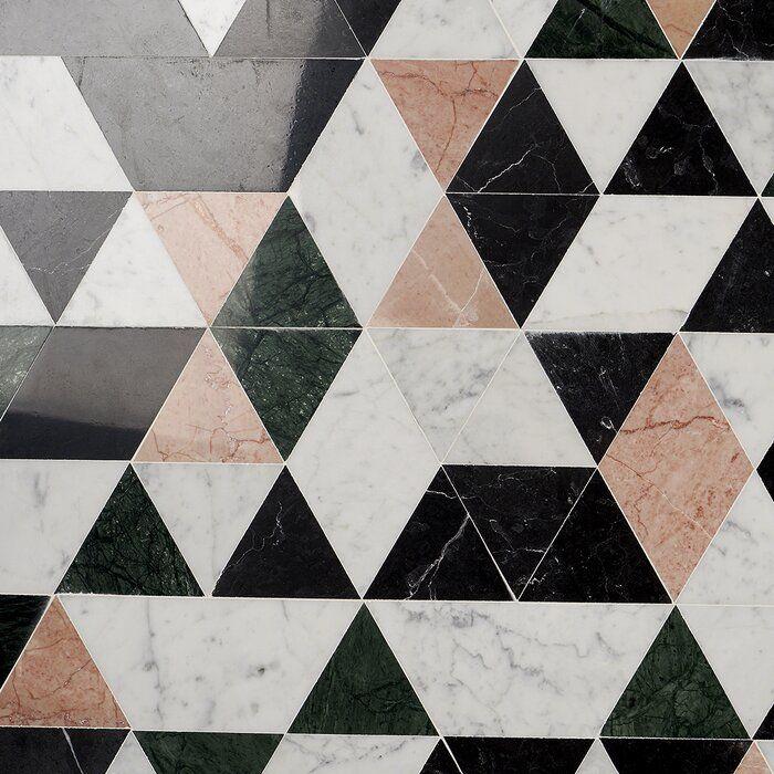 Prisma 8 X 14 Marble Mosaic Tile Marble Mosaic Marble Mosaic Tiles Marble Floor Pattern