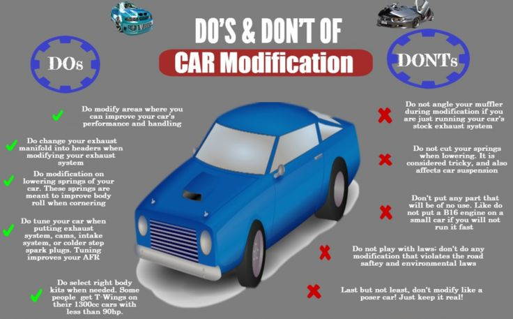 Happy #WisdomWednesday! If you're new to the car modification game, you'll want to check out this useful guide of do's and don'ts! 🙌  #modifications #guide #cartips