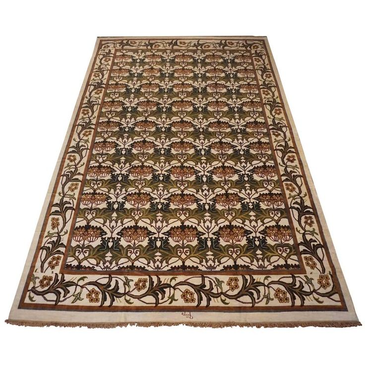 Ivory William Morris Inspired Rug The 52