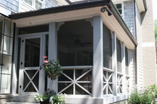 nice details on this screened porch