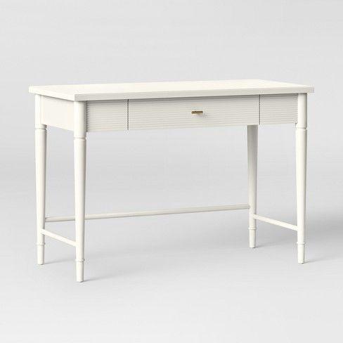 cambridge turned leg desk ivory threshold bedroom desk girl rh pinterest com