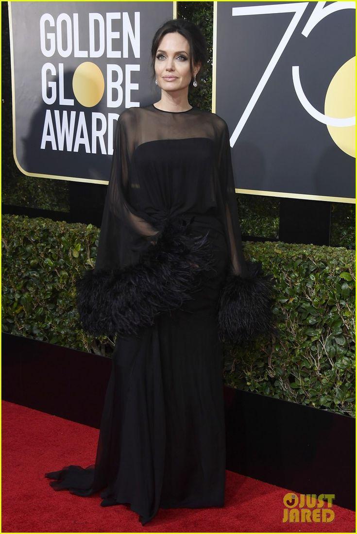 Angelina Jolie ~ 2018 Golden Globes ~ wearing an Atelier Versace gown