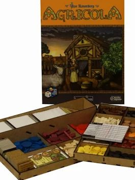 Boardgame / Juegos de Mesa Laser cut storage solution for AGRICOLA info: withoutmess.wom@gmail.com