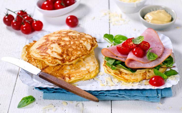 Tykke, saftige pannekaker med ost