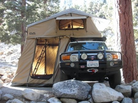 Yup... Got a truck? Need a tent? Want to camp in it, but want more room than sleeping in the bed? Or you have so much crap in the bed, that you need to sleep on the roof? Check this bad mammo-jamma out!