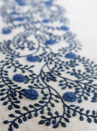 Embroidery is well known for its healing properties.