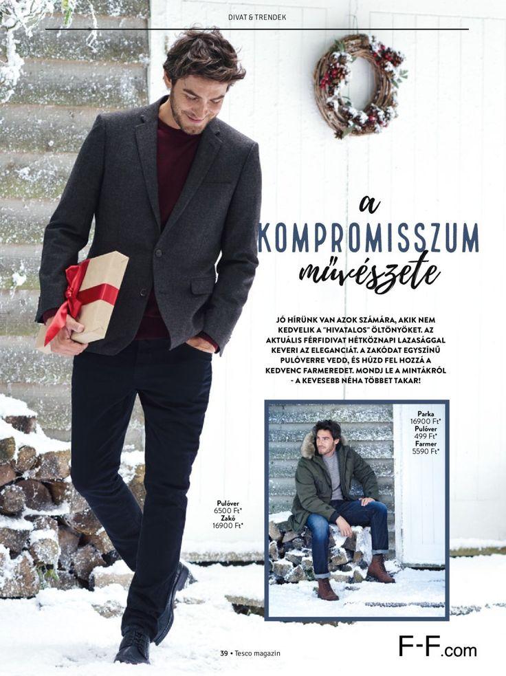 Férfi divat karácsonyra #ferfi #divat #karacsony #pulover #ajandek #tescomagyarorszag