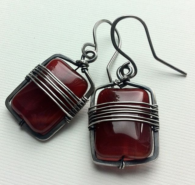 Agate cubes | Lots of ideas for earrings here that could be used for poly beads